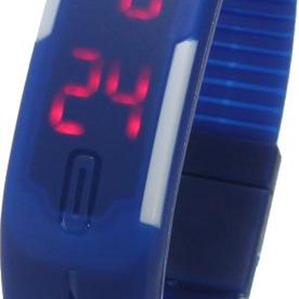 Silikonové LED hodinky v několika barvách