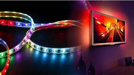 Barevný 5metrový LED pás s ovládáním