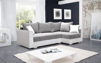 Moderní rohová sedací souprava BALI white / bright grey