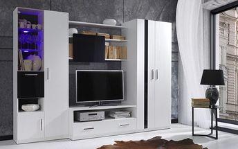 Bílá obývací stěna PRESTO 280
