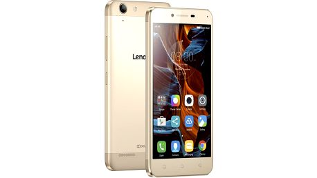 "Lenovo K5 5"" - 16GB, LTE, Dual SIM, zlatá - PA2M0029CZ + Zdarma SIM karta Relax Mobil s kreditem 250 Kč"