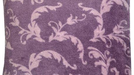 Polštář WENDY Essex 40x40cm, fialová, mikrovlákno vzor květiny Varianta: Povlak na polštář, 40x40 cm