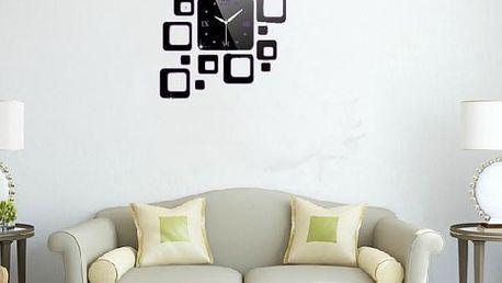 Designové hodiny - čtverce - skladovka - poštovné zdarma