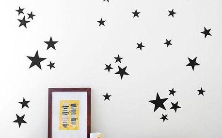 Sada hvězdičkových nálepek na zeď - 82 kusů