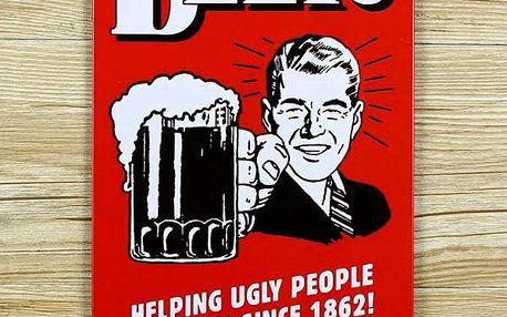 Retro nástěnné cedule - pivo - dodání do 2 dnů