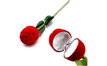 Dárková krabička v podobě růže
