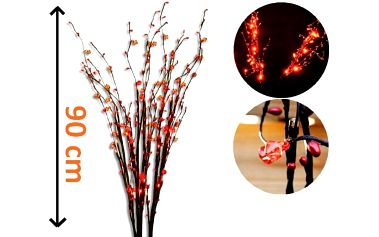 Dekorativní LED osvětlení s ozdobnými kamínky