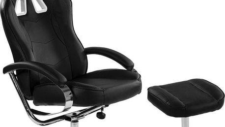 Kancelářská židle GT RELAX RACER - černá/chrom