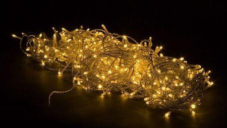 Vánoční LED osvětlení 60 m - teple bílá 600 LED