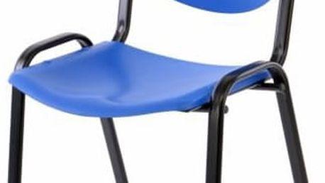 Garthen 38258 Stohovatelná plastová kancelářská židle - modrá