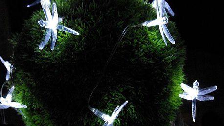 Zahradní solární dekorativní LED osvětlení - Vážky 24 LED diod