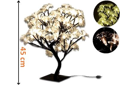 Nexos 1980 Dekorativní LED osvětlení - strom s květy, teple bílá, 45 cm