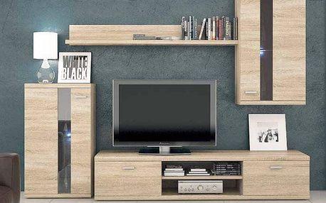 Moderní obývací stě›na Lumen, sonoma