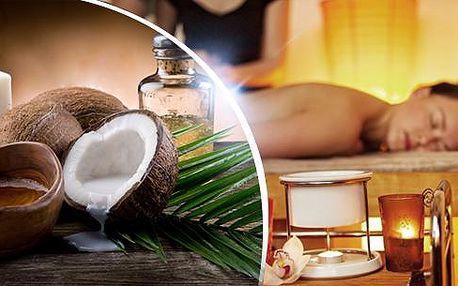 60min. masáž celého těla - sportovní, detoxikační, relaxační nebo medová + zábal