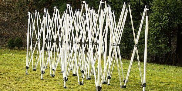 Zahradní párty stan černý pavilon 3 x 9 m + boční díly4