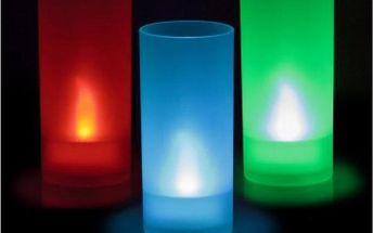 LED svíčka měnící barvu