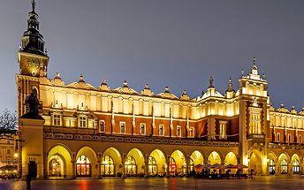 Krakov (UNESCO) pro DVA v 4* Hotelu Centrum se snídaní či polopenzí