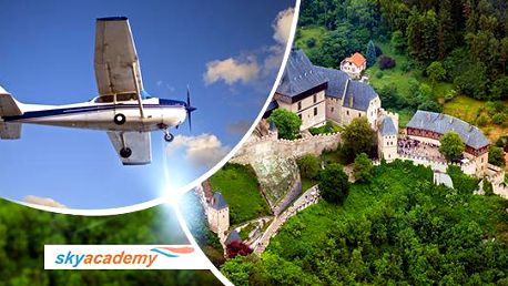 Pilotem na zkoušku nebo vyhlídkový let pro 2 osoby v délce 20 minut na letišti v Příbrami