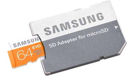 Paměťová karta Samsung Micro SDXC EVO 64GB + adapter