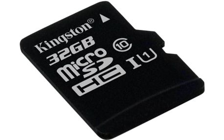 Paměťová karta Kingston MicroSDHC o kapacitě 32GB