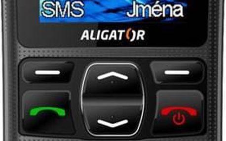 Mobilní telefon Aligator pro seniory s velkým displejem a tlačítky, hlasitým vyzváněním a velkou výdrží baterie