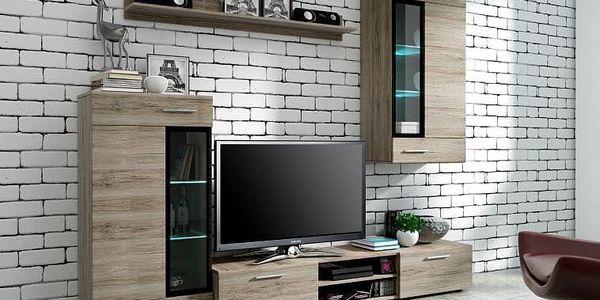 POSLEDNÍ KUSY ZA TUTO CENU! Variabilní obývací stěna Elian s dostatečným úložným prostorem
