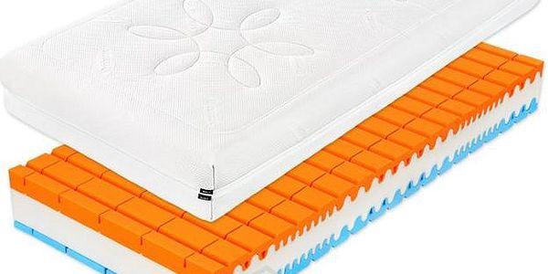 Špičková ortopedická matrace s prodlouženým rozměrem 90x210 cm a výškou 24 cm, 1+1 ZDARMA
