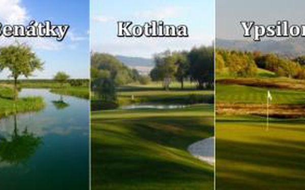Last minute 3 green fee na oblíbených hřištích v Čechách - užijte si 3x prazdninový golf na 18 jamek v Benátkách, na Kotlině v Terezíně a na Ypsilonce...