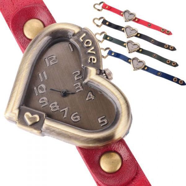 Vintage hodinky se srdíčkovým ciferníkem