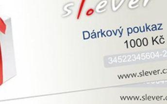 Hledáte vhodný dárek pro vaše blízké ?Darujte nákup na Slever.czv podobě dárkového poukazu.