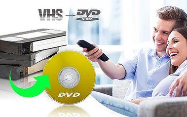 Převod až 240 min. záznamu z VHS kazet či jiných druhů na DVD - doprava zpět zdarma