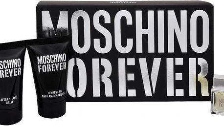 Moschino Forever - toaletní voda 4,5 ml + balzám po holení 25 ml + sprchový gel 25 ml