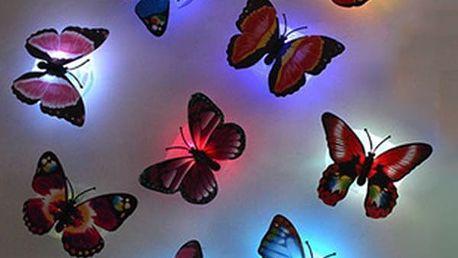 Svítící LED světlo na zeď - motýlek
