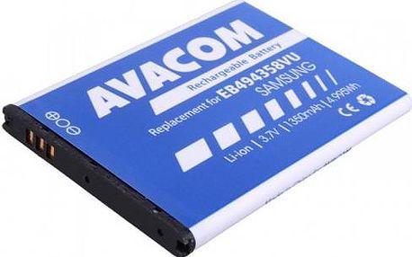 Baterie Avacom pro Samsung Galaxy Ace, Li-Ion 1350mAh (náhrada EB494358VU) (GSSA-5830-S1350A)