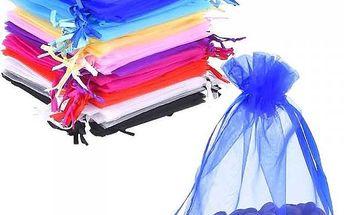 Sada barevných sáčků z organzy - 50 kusů - poštovné zdarma