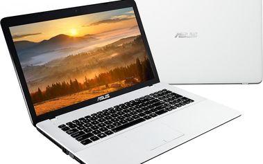 Netbook Asus F751LB-T4183T, bílý + 200 Kč za registraci