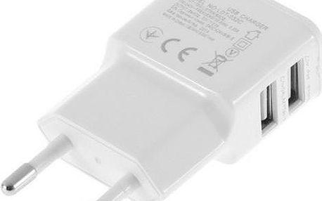 Adaptér do EU zásuvky s dvěma USB porty - dodání do 2 dnů