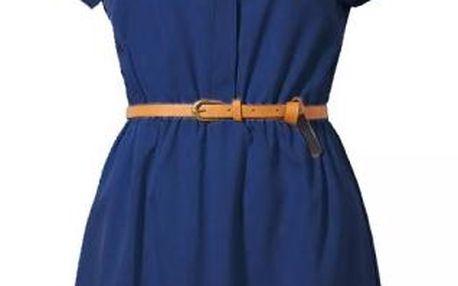 Košilové šaty s páskem