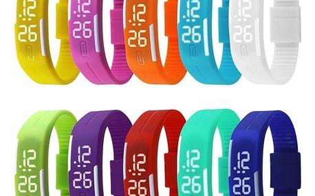 Silikonové digitální hodinky v podobě náramku - 13 variant