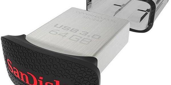 Sandisk Ultra Fit 64 GB (SDCZ43-064G-G46) stříbrný + Doprava zdarma