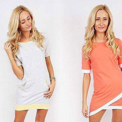 Asymetrické letní šaty nebo sportovní šaty s kapsičkou