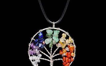 Náhrdelník barevný strom