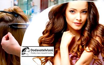 Prodloužení vlasů v Praze a Liberci: 100 pramenů středoevropských hnědých/blond vlasů