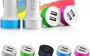 USB adaptér do auta - 5 barev - poštovné zdarma