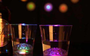 LED sklenička s hvězdnou projekcí