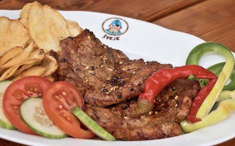 Poctivý steak z krkovice a americké brambory