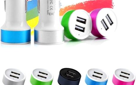 USB adaptér do auta - 5 barev
