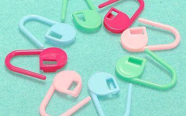 Barevné plastové klipy pro ruční práce - sada 30 kusů