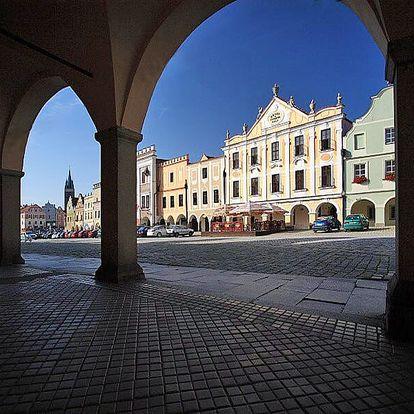 Romantický pobyt v Telči (UNESCO) pro DVA s polopenzí