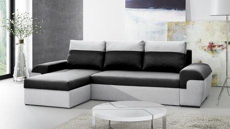 Rohová sedačka MORY KORNER, černá/šedá